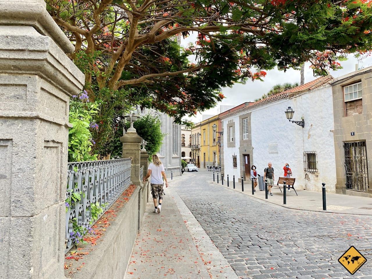 Straßenbild Arucas Gran Canaria