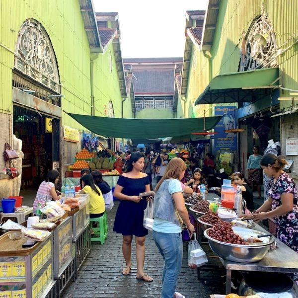 Street-Food Yangon Bogyoke Aung San Market
