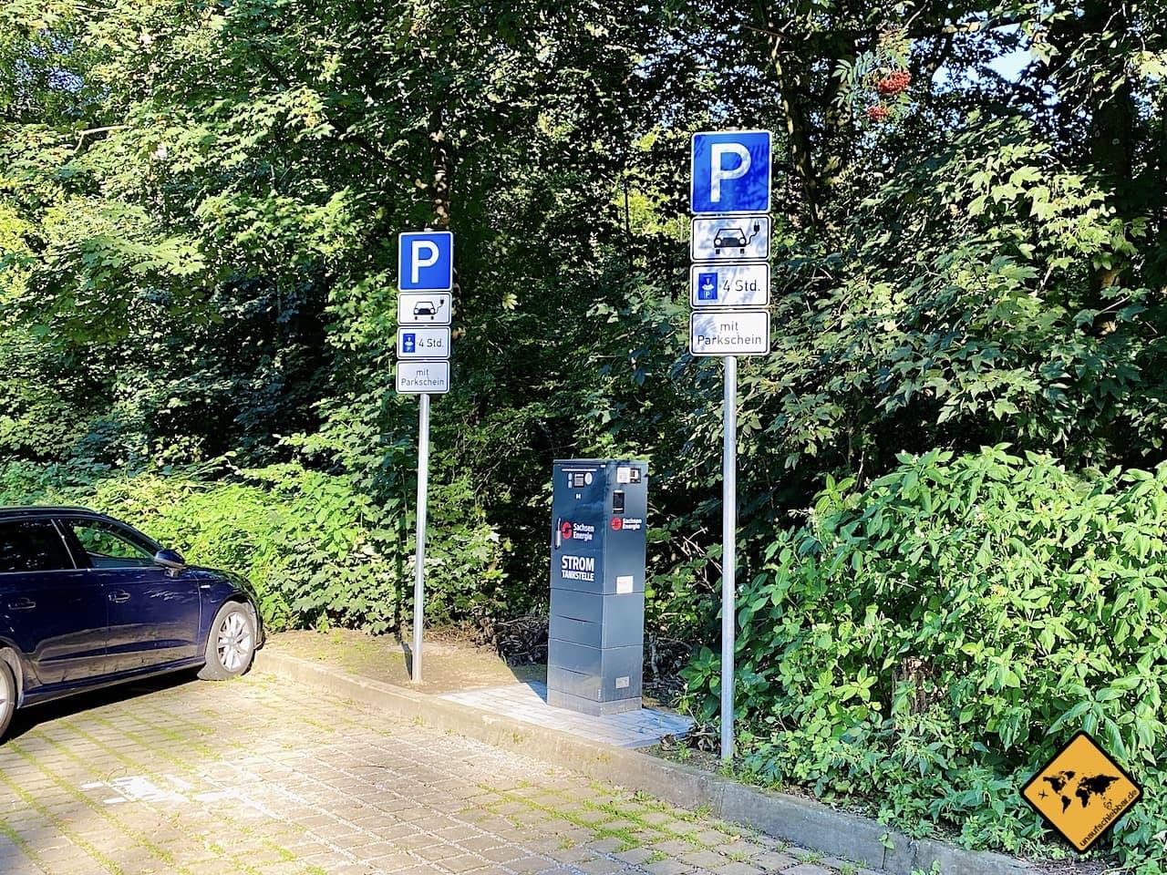 Stromtankstelle Parkplatz Bastei