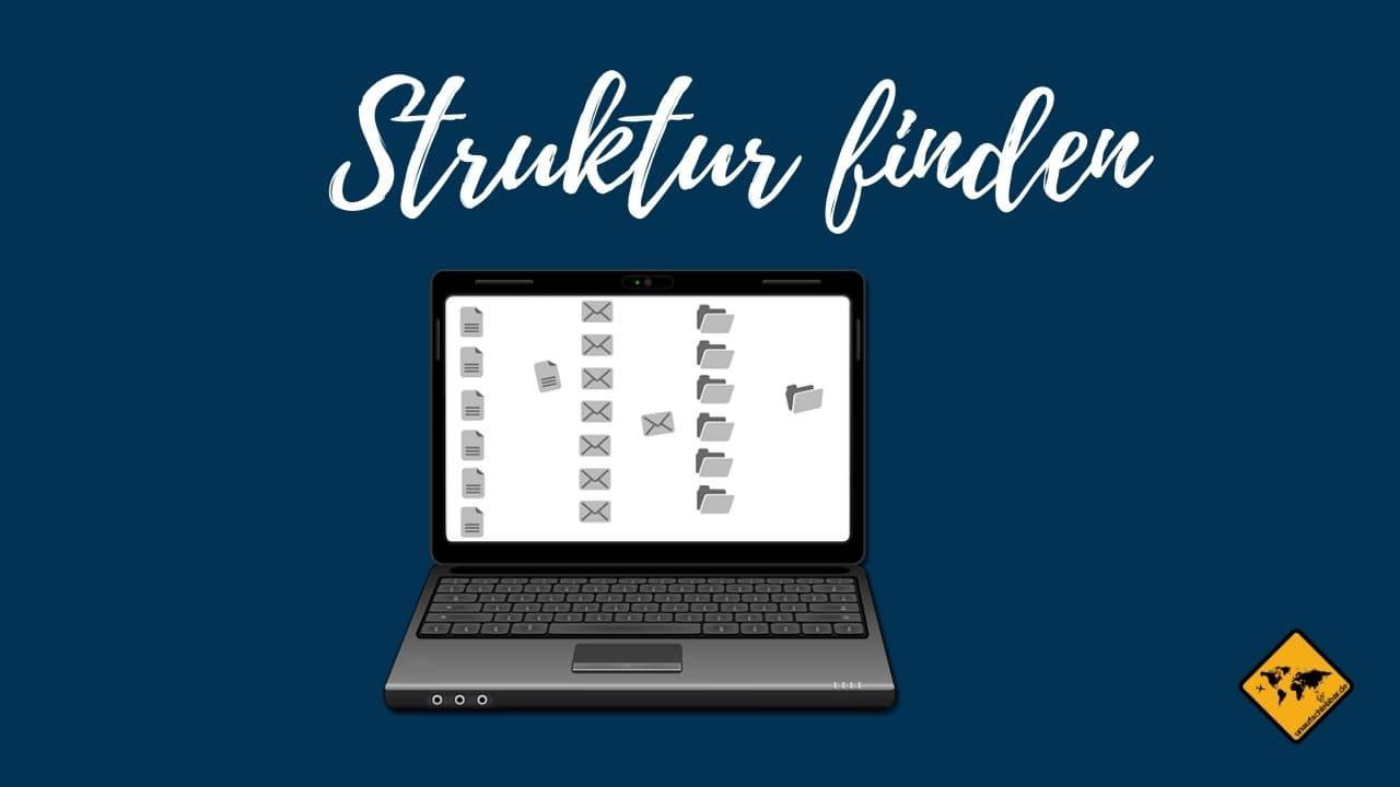 Struktur finden digitale Ablage