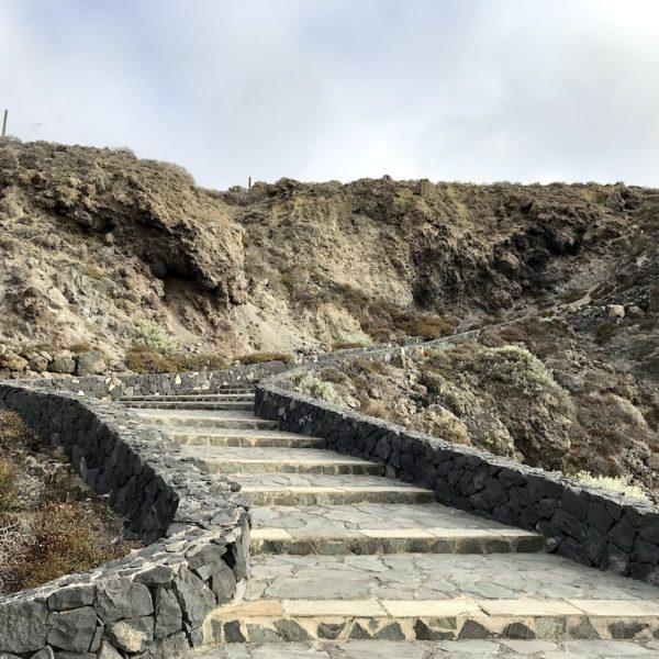 Stufen Charco del Viento Teneriffa