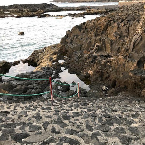 Stufen Meer Playa de la Arena Teneriffa Nordküste