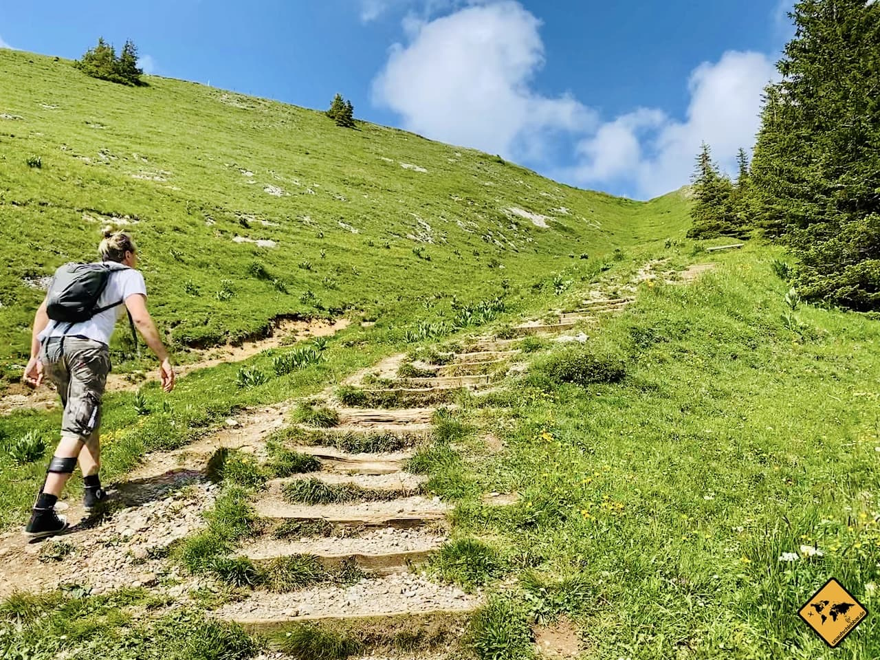 Stufen Weg zum Gipfel