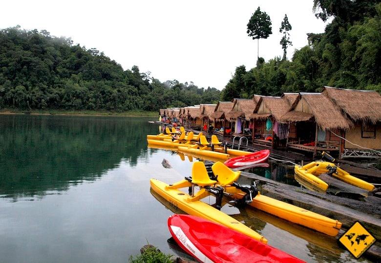 Südthailand Khao Sok Nationalpark Kajak