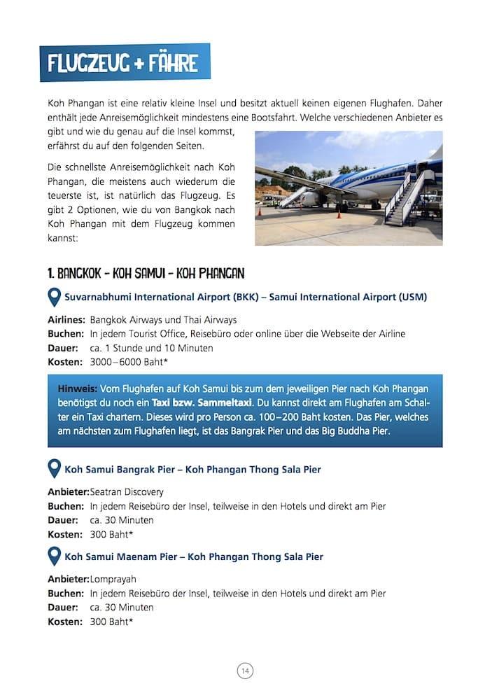 Südthailand Koh Phangan Reiseführer Anreise