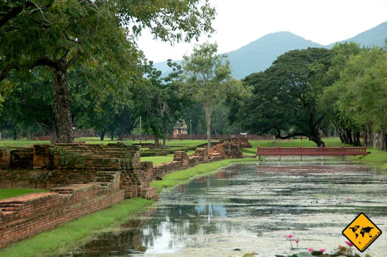 Sukhothai Historical Park Wassergräben