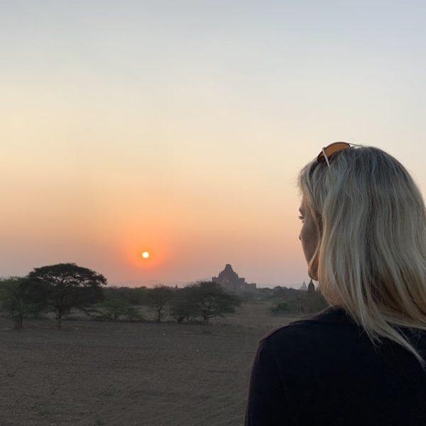 Sulamuni Manmade Sunset Hill Sonnenuntergang Bagan