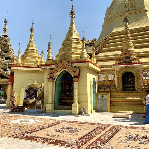 Sule Pagode Innenbereich Yangon Myanmar