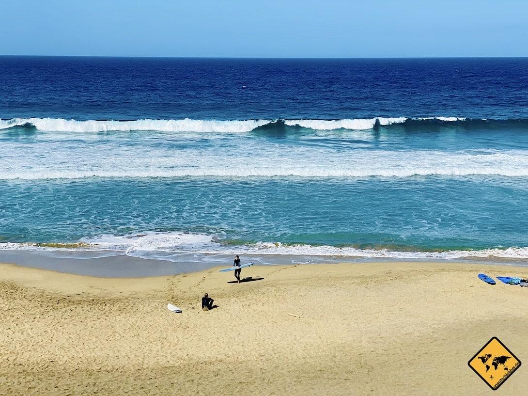 Surfen La Pared Playa del Viejo Rey