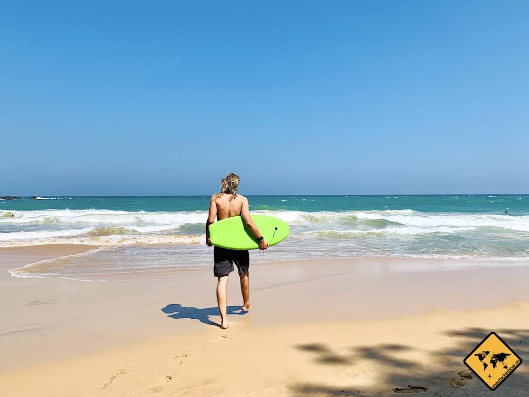 Surfen Meer Strand Sri Lanka