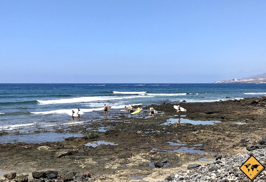 Surfen Playa de las Américas Teneriffa