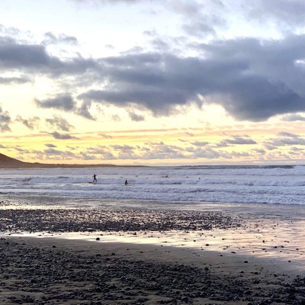 Surfen auf Lanzarote Wellen Caleta de Farama Beach