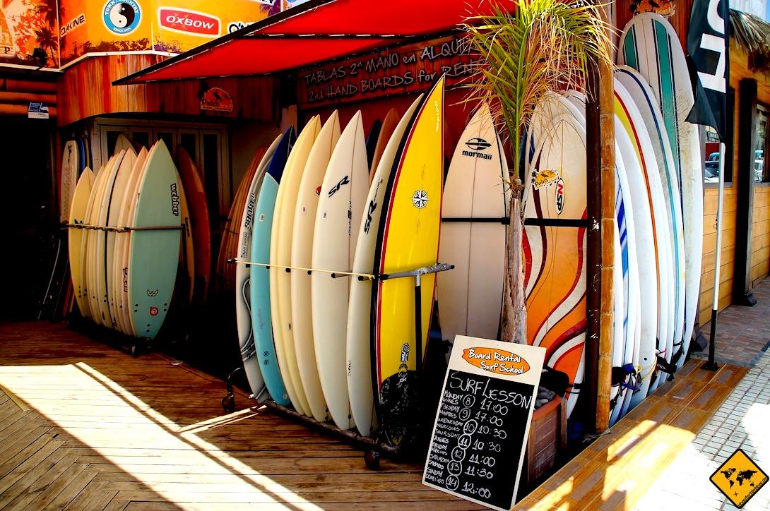 Surfen auf Teneriffa Boards