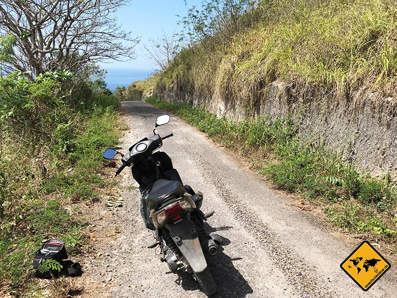 Suwehan Beach Nusa Penida Anfahrt Roller