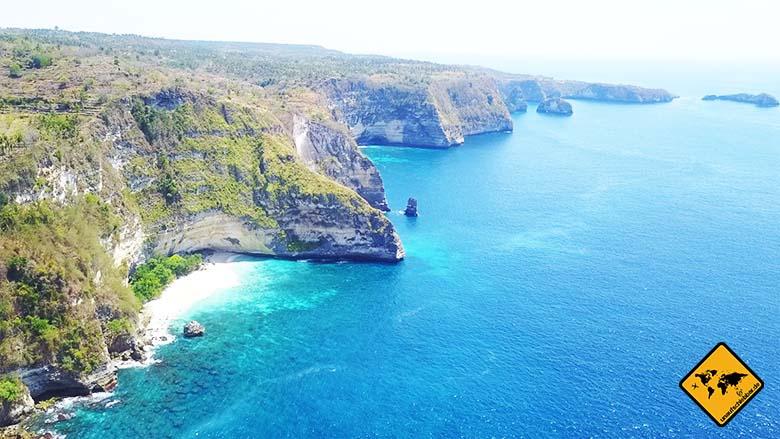 Suwehan Beach Nusa Penida Steilküste