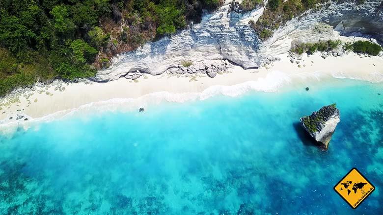 Suwehan Beach Nusa Penida von oben