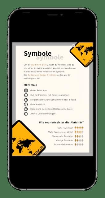 Symbole - 88 La Gomera Highlights Sehenswürdigkeiten Ausflüge Aktivitäten Orte