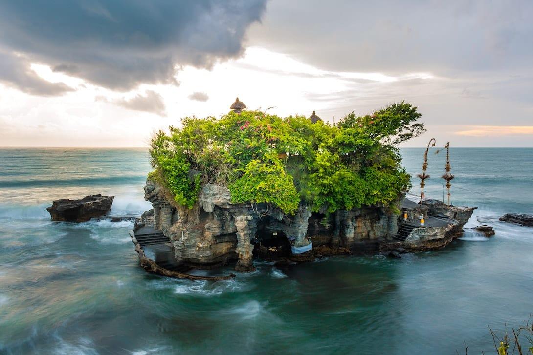 Tanah Lot Tempel Bali leer