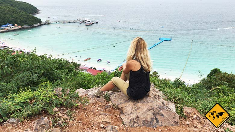 Tawaen Beach Koh Larn Aussicht