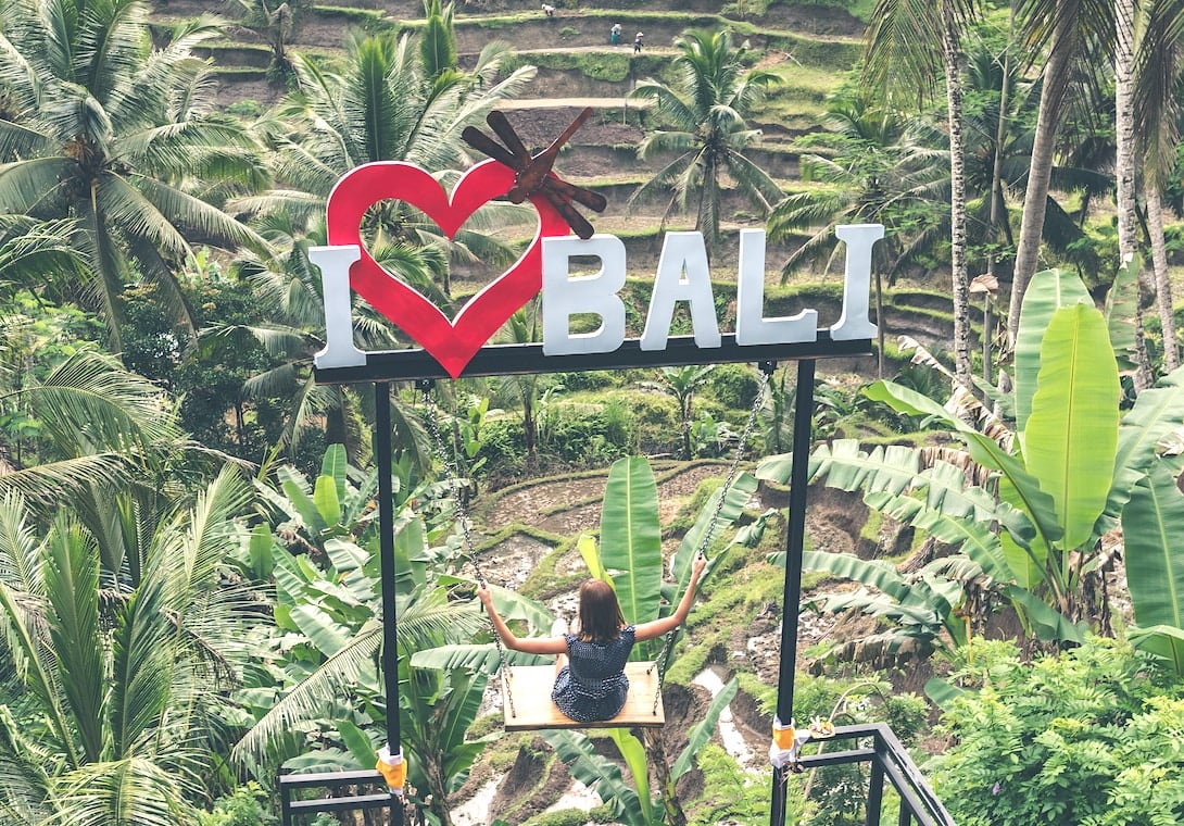 Tegalalang Reisterrassen Schaukeln Bali