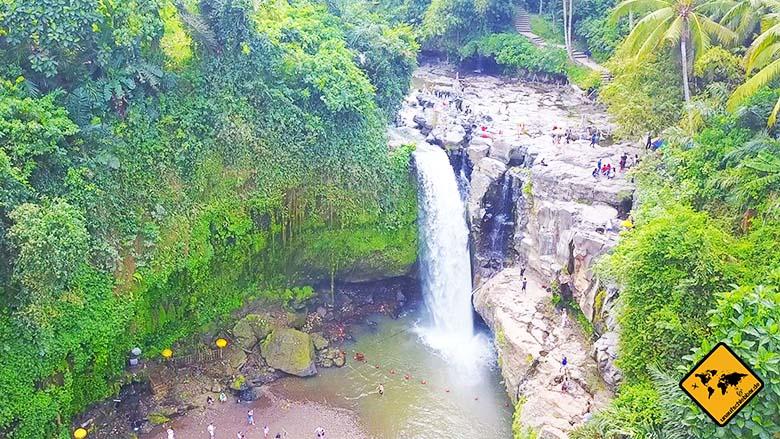 Tegenungan Wasserfall von oben
