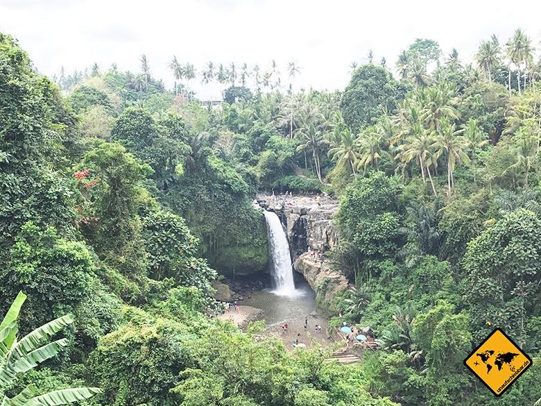 Tegenungan Waterfall Bali Aussicht