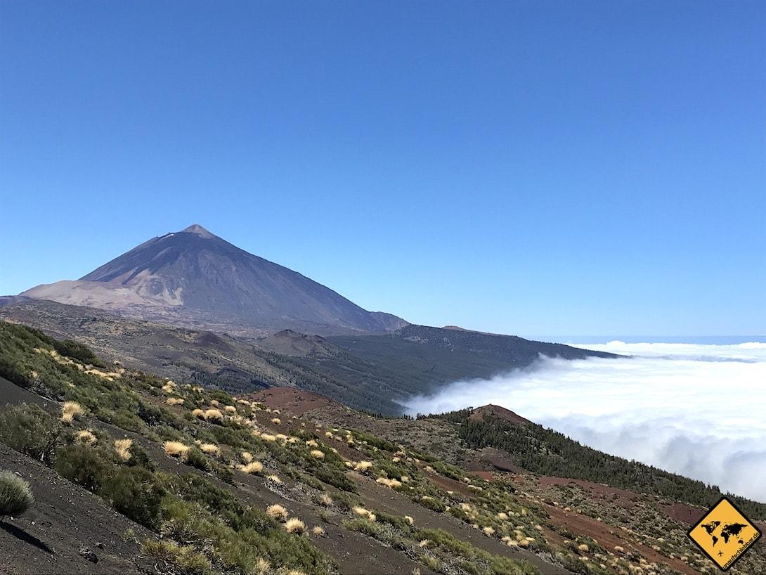 Teide Nationalpark Teneriffa Wolken