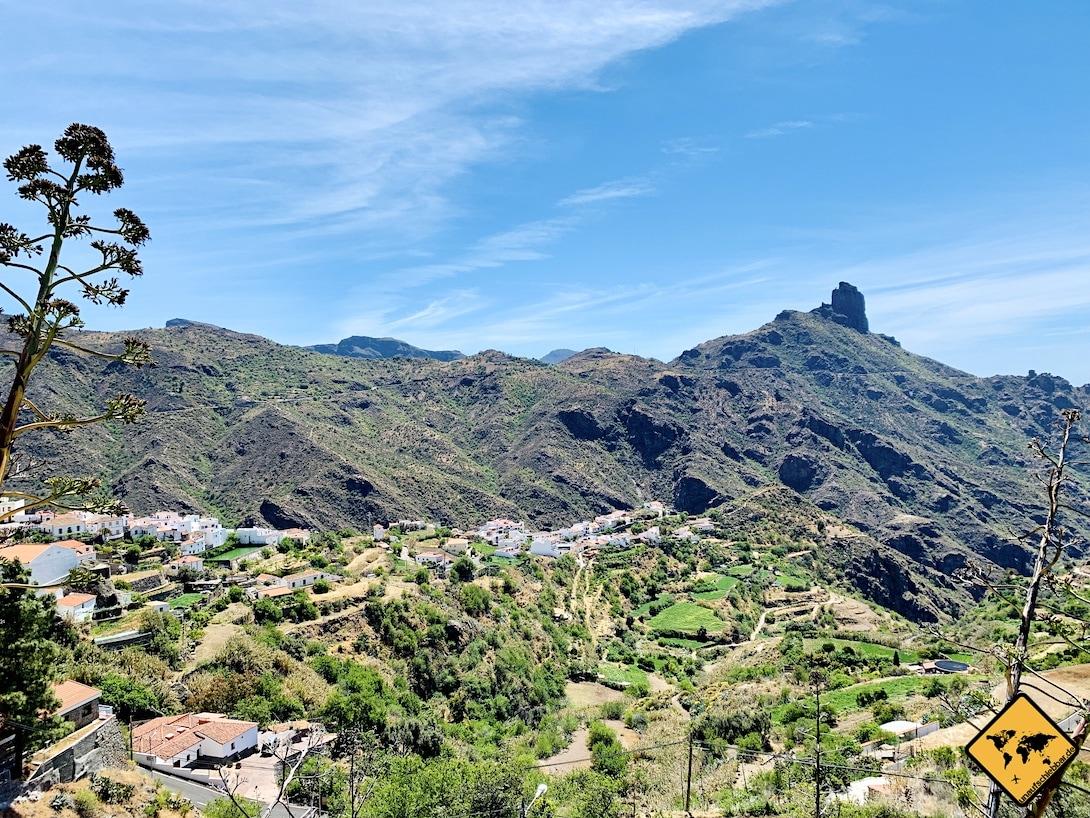 Tejeda Ausblick Ort Roque Bentayga
