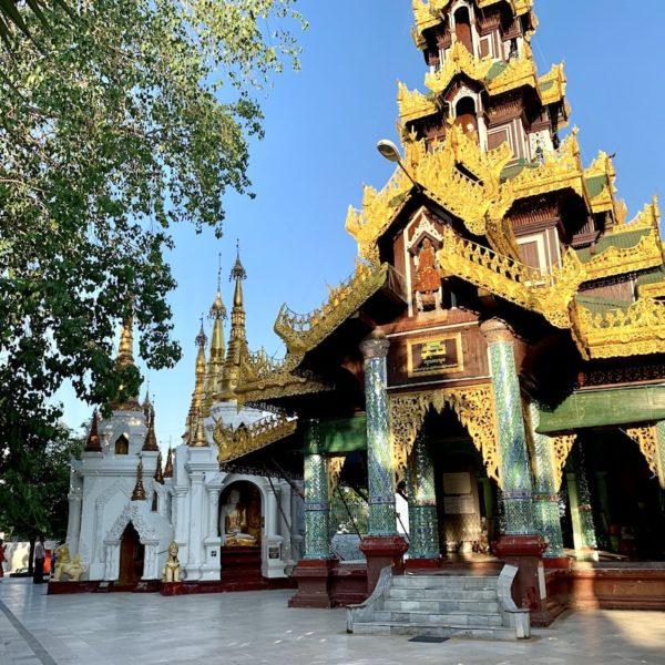 Tempel-Anlagen Shwedagon Paya Myanmar