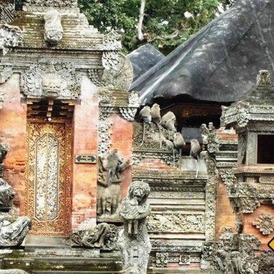 Tempel im Affenwald in Ubud