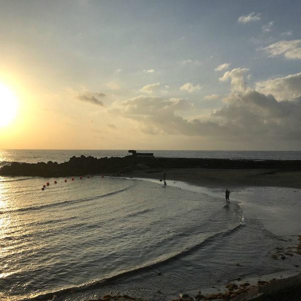 Teneriffa Bajamar Strand Abend