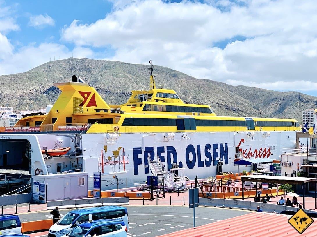 Teneriffa Fähre Los Cristianos La Gomera Fred Olsen Express