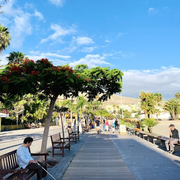 Teneriffa Los Cristianos Promenade