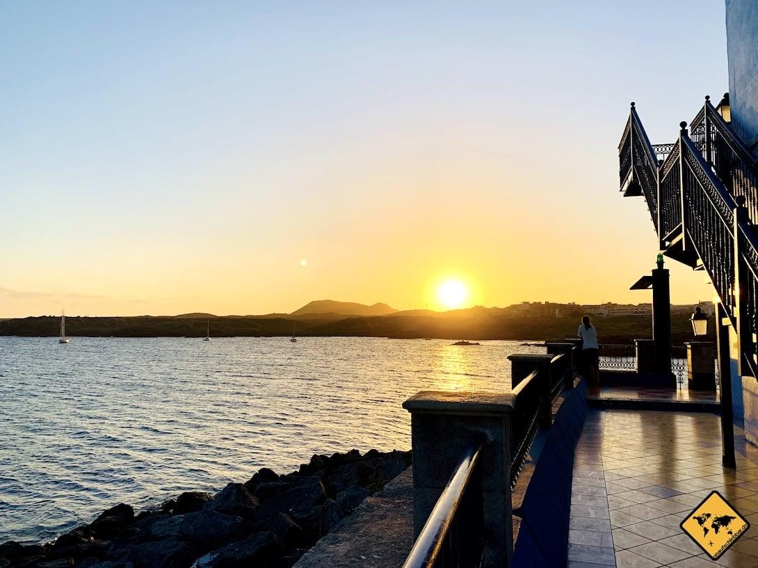 Teneriffa Meer Sonnenuntergang Langzeitreise