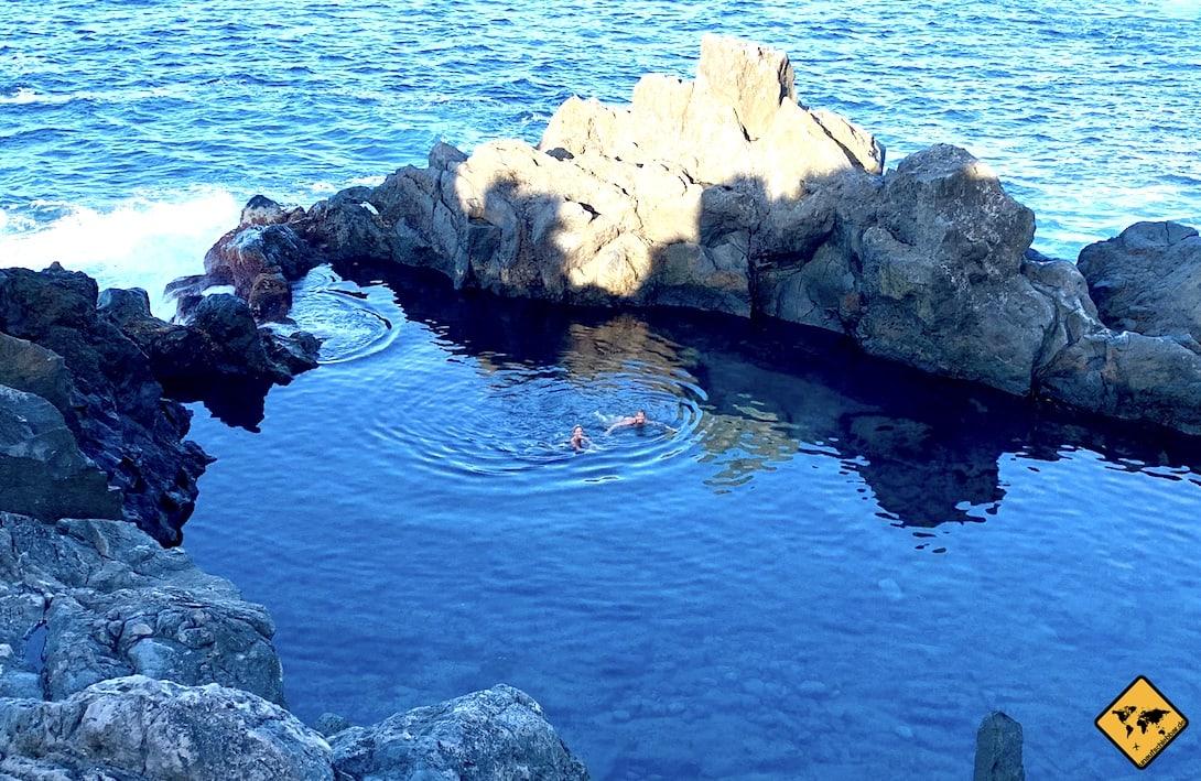 Teneriffa Naturpool Charco de la Laja baden