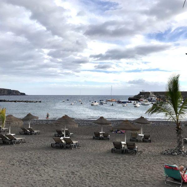Teneriffa Playa de San Juan Strand Liegen