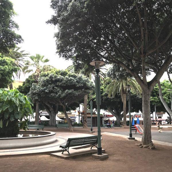 Teneriffa Puerto de la Cruz Plaza del Charco Brunnen