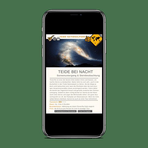 Teneriffa Reiseführer - 79 - Teide - Teide bei Nacht_iphonexspacegrey_portrait