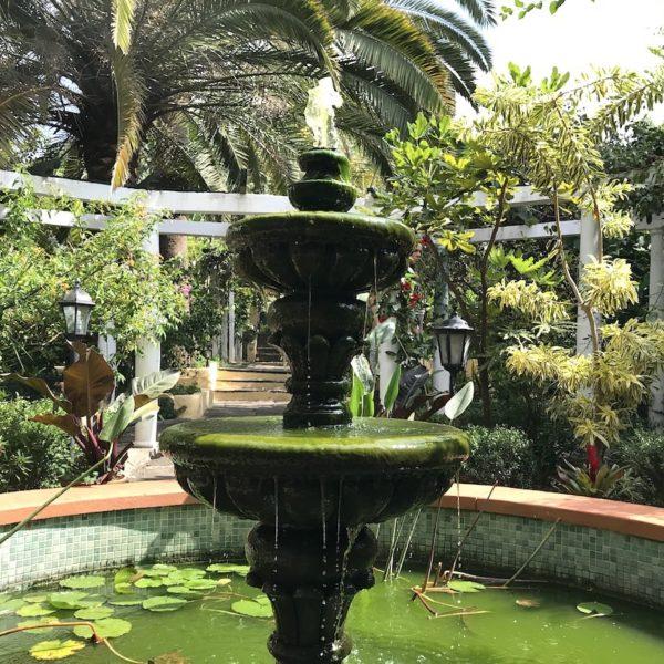 Teneriffa Sitio Litre Garten Puerto Cruz Brunnen