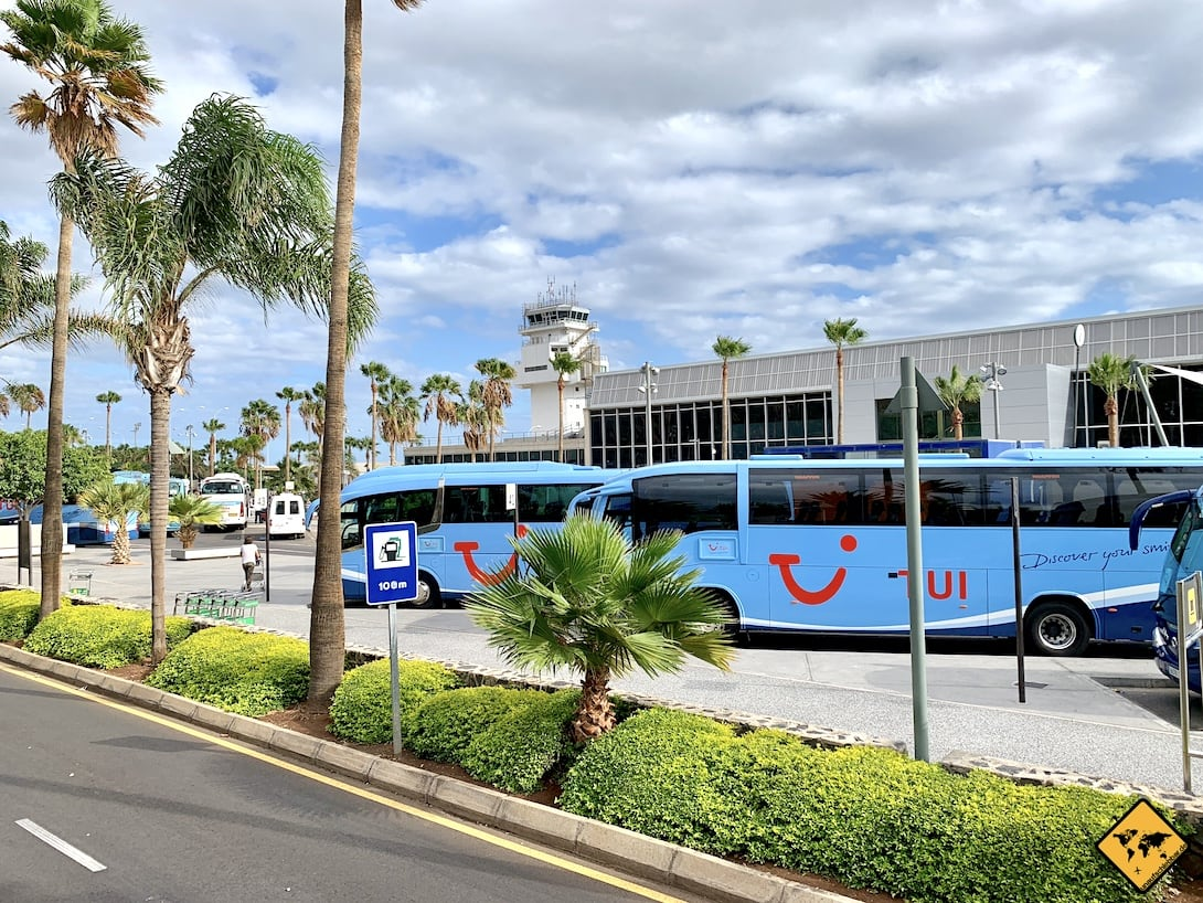 Teneriffa Süd Flughafen Reisebusse