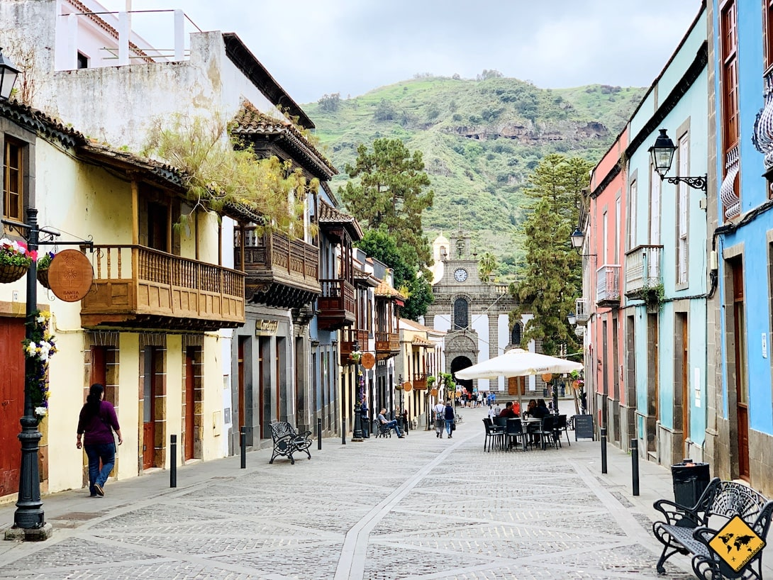 Teror Gran Canaria Altstadt Häuser