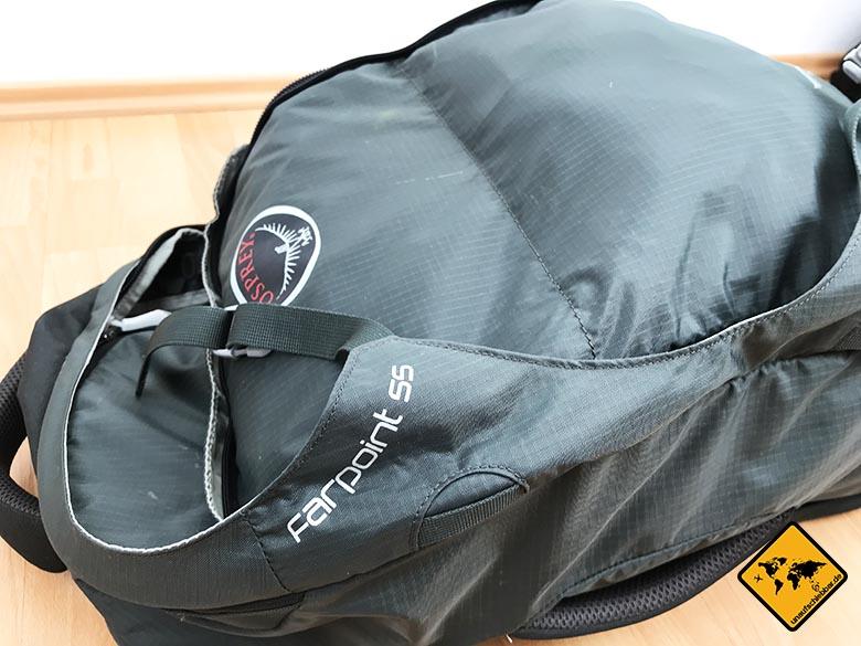 Thailand Packliste Backpacker Rucksack Osprey Farpoint 55