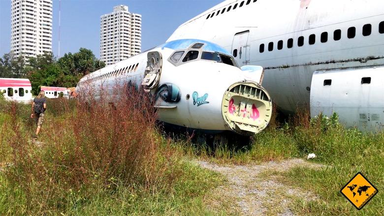 Thailand Rundreise Flughafenfriedhof Bangkok