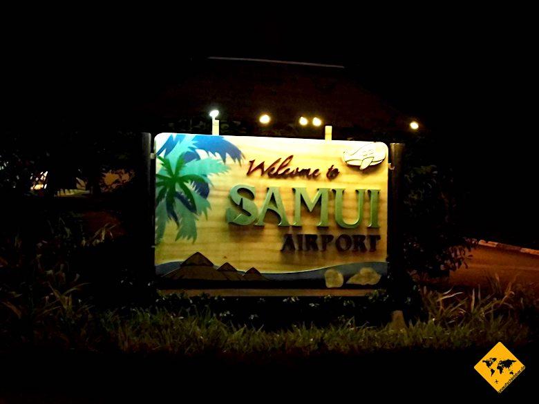 Thailand Rundreise Koh Samui Flughafen