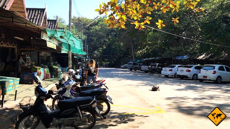 Thailand Rundreise Roller fahren