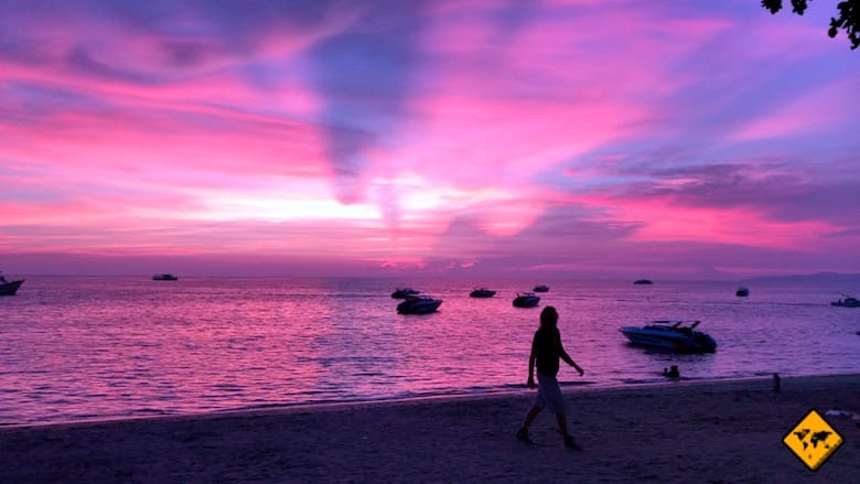 Thailand Rundreise Sonnenuntergang Pattaya
