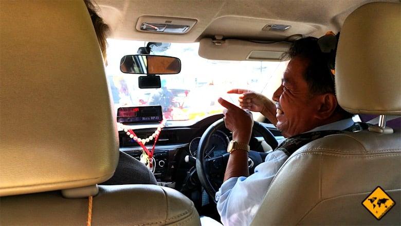 Thailand Rundreise Taxi