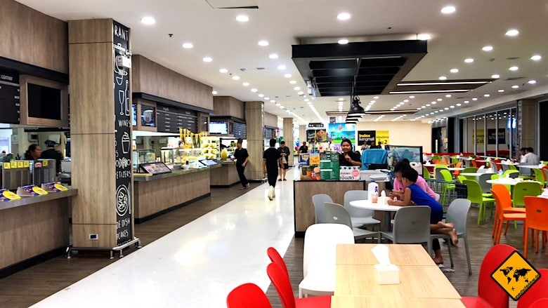 Thailand Urlaub Kosten Shopping Mall Essen
