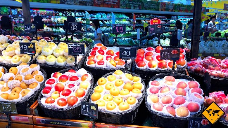 Thailand Urlaub Kosten Supermarkt