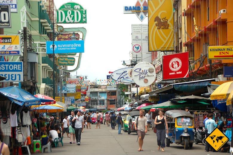 Thailand oder Bali Partyleben Khaosan Road